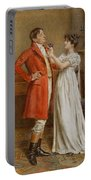 I Wish You Luck Portable Battery Charger by George Goodwin Kilburne