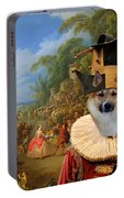 Icelandic Sheepdog Art Canvas Print Portable Battery Charger