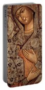 Icon Of The Blessed Virgin With Three Hands Portable Battery Charger by Novgorod School