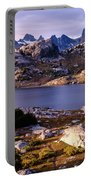Island Lake And Wind River Range Portable Battery Charger