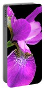Japanese Iris Violet Black  Portable Battery Charger