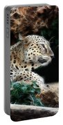 Leopard Watching It's Prey Portable Battery Charger