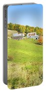 Maine Farm On Side Of Hill In Autumn Portable Battery Charger