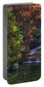 Nishinomiya Japanese Garden - Waterfall Portable Battery Charger