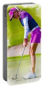 Paula Creamer Putts The Ball On The Fourth Green Portable Battery Charger