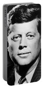 Portrait Of John F. Kennedy  Portable Battery Charger by American Photographer