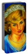 Portrait Of Lady Diana Portable Battery Charger