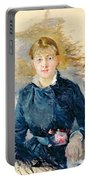 Portrait Of Louise Riesener Portable Battery Charger by Berthe Morisot