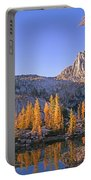 Prusik Peak Behind Larch Trees Portable Battery Charger