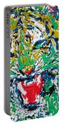 Roaring Enamel Tiger Portable Battery Charger