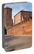 Sandomierska Tower And Wawel Castle Wall In Krakow Portable Battery Charger