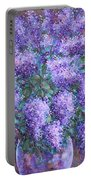 Scented Lilacs Bouquet Portable Battery Charger