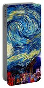 Starry Night In Bethlehem Portable Battery Charger