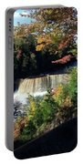 Tahquamenon Falls In Autumn Portable Battery Charger