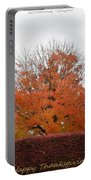 Thanksgiving Greetings Portable Battery Charger