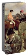The Horse Race Portable Battery Charger by Jean Louis Forain