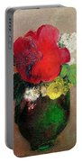The Red Poppy Portable Battery Charger by Odilon Redon