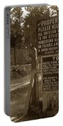 Toll Gate To 17 Mile Drive Pebble Beach California Circa 1910 Portable Battery Charger