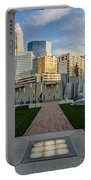View Of Charlotte Skyline Portable Battery Charger