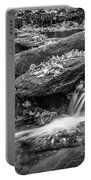 Waterfall Great Smoky Mountains Painted Bw    Portable Battery Charger