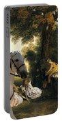 Welsh Springer Spaniel Art Canvas Print Portable Battery Charger