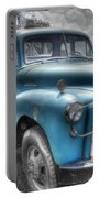0043 Old Blue Portable Battery Charger