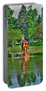 005 Reflecting At Forest Lawn Portable Battery Charger