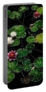 0151-lily - Embossed Sl Portable Battery Charger