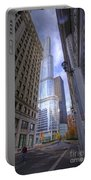 0527 Trump Tower From Wrigley Building Courtyard Chicago Portable Battery Charger