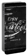 Coca Cola Sign Black And White Portable Battery Charger