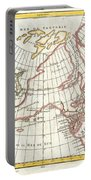 1772 Vaugondy  Diderot Map Of Alaska The Pacific Northwest And The Northwest Passage Portable Battery Charger