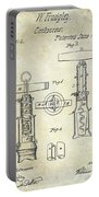 1862 Corkscrew Patent Drawing Portable Battery Charger