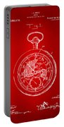 1916 Pocket Watch Patent Red Portable Battery Charger