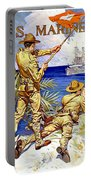 1917 - United States Marines Recruiting Poster - World War One - Color Portable Battery Charger