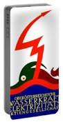 1924 - Austria Electricity Poster Advertisement - Color Portable Battery Charger