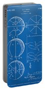 1929 Basketball Patent Artwork - Blueprint Portable Battery Charger by Nikki Marie Smith