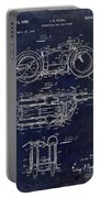 1950 Motorcycle Patent Drawing Blue Portable Battery Charger