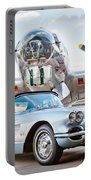 1960 Chevrolet Corvette Portable Battery Charger by Jill Reger
