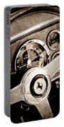 1960 Ferrari 250 Gt Cabriolet Pininfarina Series II Steering Wheel Emblem Portable Battery Charger by Jill Reger