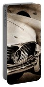 1960 Maserati Grille Emblem Portable Battery Charger by Jill Reger