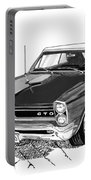 1965 Pontiac G T O Convertible Portable Battery Charger