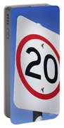 20km Road Sign Portable Battery Charger