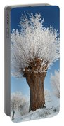 A Frosted Willow On A Very Cold And Bright Winter Day Portable Battery Charger
