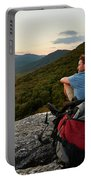A Man Hikes Along The Appalachian Trail Portable Battery Charger