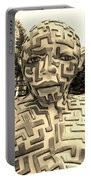 1 A Maze Ing Man Sepia Portable Battery Charger