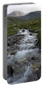 A Mountain Stream In Vanoise National Portable Battery Charger