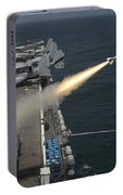 A Rim-7 Sea Sparrow Missile Is Launched Portable Battery Charger