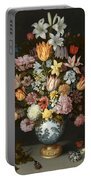 A Still Life Of Flowers In A Wan Li Vase Portable Battery Charger