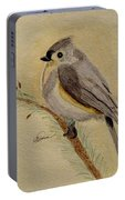 A Tufted Titmouse Portable Battery Charger