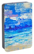 Abstract Beach Portable Battery Charger